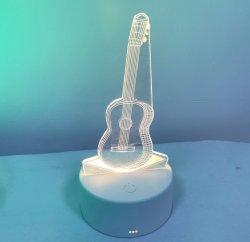 Hot Sale acrylique Table éclairage par LED clignotant en acrylique transparent Stand affichage LED