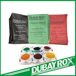 Ijzeroxide prijzen/Fabrieksprijs/Rode Poeder/Zwart/Geel/Groene Pigmentpoeder