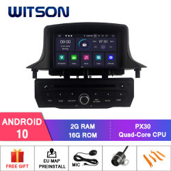 Android Quad-Core Witson 10 aluguer de DVD GPS para o Renault MÉGANE III 2009-2011 vídeo HD de 1080P