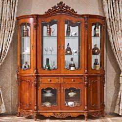 Commerce de gros Stock quatre portes armoire à vin dans le mobilier de couleur en option
