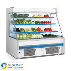 Supermarkt-Frucht-Gemüse-Kühlraum-Bildschirmanzeige-Schaukasten