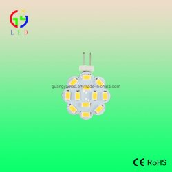 مصابيح LED G4 12SMD 5630، لمبة LED G6.35 SuperBright لمؤشر أفقي، مصابيح LED G4 Gy6.35