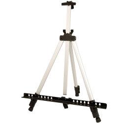 """66 """"丈夫な銀製アルミニウム三脚の芸術家フィールドおよび表示イーゼルの立場- """" 5.5フィート、把握32 """"への調節可能な高さ20キャンバス-床およびテーブルトップの表示"""