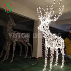 LEDの祝祭の装飾3Dのモチーフライトアメリカヘラジカの彫刻ライト
