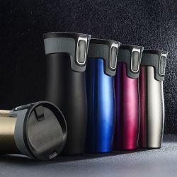 Sin BPA de vacío de acero inoxidable 304 Hermético Termo con presionar la tapa
