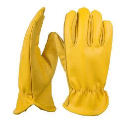 Amazon jaune Grand Hommes circonscription de la conduite moto Ferme de journalisation des gants en cuir véritable peau de vache main