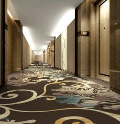 Hotel de pared a pared High-Grade Nylon impreso alfombras comerciales