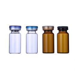 붕규산 앰플 세뇨관 0.5 1 2mL 5 7 10ml 15 20mL 25mL 백신 병 약용 몰드된 황색 투명 유리 메디신 캡 고무 마개 코크 바이알