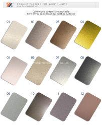 Großverkauf 304 201 PVD purpurrotes grün-blaues Farbton-Edelstahl-Blatt