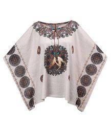 느슨한 보히미아 인쇄된 인도 형식 옷