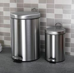 Circulaire de la commande de pédale en acier inoxydable classés poubelle Indoor corbeille