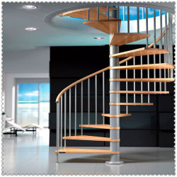 Arqueados/Arc escada em espiral, escada interior, casa moderna decoração de luxo escadas de vidro escadas de madeira