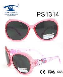 Hallo Miezekatze-Karikatur-Rosa-buntes Kind-Plastiksonnenbrillen (PS1314)