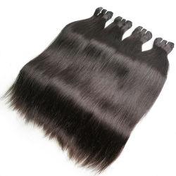 Commerce de gros bon marché à long Curly 100% Remy indiens péruvien brésilien vierge naturelle des cheveux d'onde de l'armure de l'eau droite
