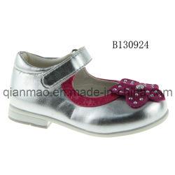 As Meninas Calçado casual de prata para a escola