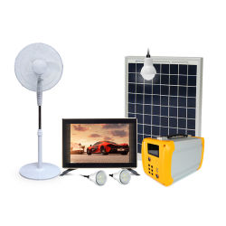 Solar-Home-Beleuchtung-System-Kit mit Laptop-Ladefunktion