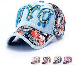 O logotipo personalizado Nyc 3D Embroideried Boné de denim em vários tamanhos, Design e materiais