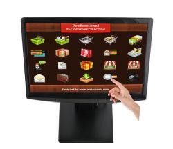 monitor de ecrã táctil panorâmico de 15 polegadas Computador POS do monitor do PC
