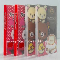 明確なプラスチックケースが付いている印刷されたプラスチックPP/PVC写真アルバムをカスタマイズしなさい