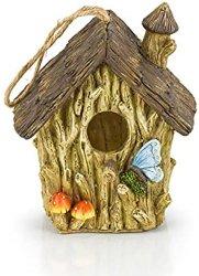 Polyresin Jardín de resina artesanal casa de aves de la mariposa