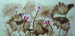 Roseo Dafen e Deco Waterlilly Floral decorativa pintura a óleo