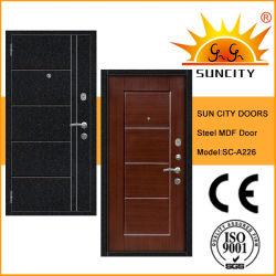 Segurança Blindada Porta MDF de aço com pele de PVC (SC-UM226)