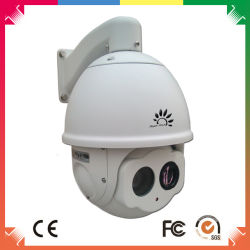CMOS 네트워크 카메라가 있는 열화상 촬영 적외선 PTZ 돔