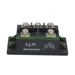 Módulo de retificação Mds100A 1001600V preto do módulo de diodos do MDS100-16