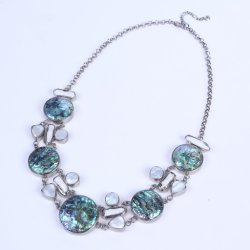 Abalone Shell Halsband met Parel Freshwate