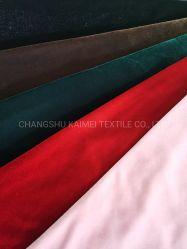 95% de poliéster 5% Spandex cont nuo de alta qualidade para tricotar Velvet Tecido Veludo