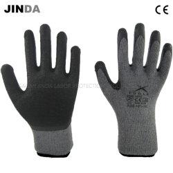 Latex-Windung beschichtete mechanische industrielle Sicherheits-Arbeits-Handschuhe des schützenden Arbeitsaufbau-En388