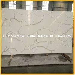 Cuisine de 12-30 mm épaisseur poli Quartz Calacatta de surface/pierre de quartz blanc de Carrare, Carrara Pierre Quartz