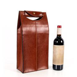 Случае упаковки многоразовые PU кожаные сумки подарков перевозчика винные аксессуары сумка расширительного бачка