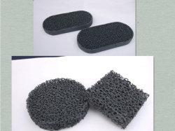 Cerámica Sic Filtro de espuma de embalaje para la fundición de metal fundido.