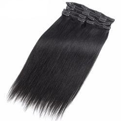 9Aブラジルの直毛の拡張自然なカラー人間の毛髪の拡張の加工されていないバージンの人間の毛髪クリップ