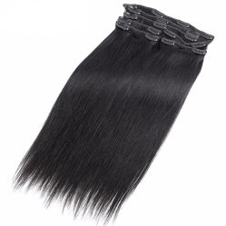 9A brasilianisches Straight Hair Extension Natural Color Unprocessed Virgin Menschenhaar Klipp im Menschenhaar Extension