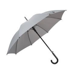블랙 플라스틱 곡선형 핸들 직선형 우산 14mm 블랙 유리섬유 축