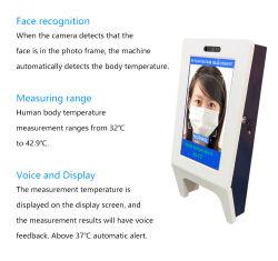顔認識カメラ温度参照認識非接触温度測定顔認識 温度音声 / テキスト温度検出フェース RE