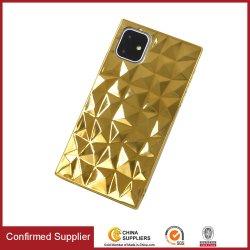 Diamond Pattern Mobile Phone Case Galvanik Prozess TPU Hülle für iPhone Samsung Infinix