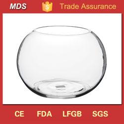 Venda por grosso de vidro bola quente taça de peixe vaso em forma de peixe