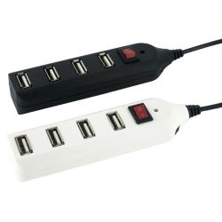 Un concentrador USB 2.0 con Cambiar on/off