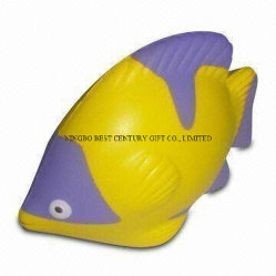 PU 거품 장난감 열대 물고기 모양 선전용 동물성 긴장 공
