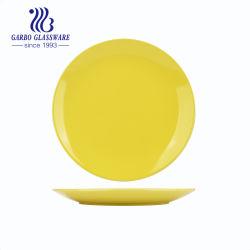Personalizar a cor amarela Planície vidrada Placa Salada 10,5polegadas Jantar de porcelana de placa (TC23024270-A)