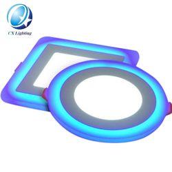 Panneau couleur double à LED lumière Pgb style RVB 18+6W 85-265V Lumière plafond décoratif