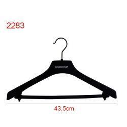 """Plastique haut de gamme 17"""" haut costume flocage velours Menswear Hanger"""