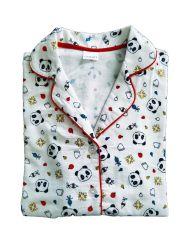 As mulheres' S 100% algodão flanela de moda impresso 2PC pijamas