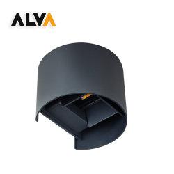 الألومنيوم القابل للضبط بزاوية شعاع المنقط المصبوب لأعلى ولأسفل مصباح LED خارجي للحائط 2*3 واط