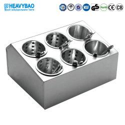 Heavybao cuberterías de acero inoxidable utensilios de cocina cuchillos cuchara horquilla titular