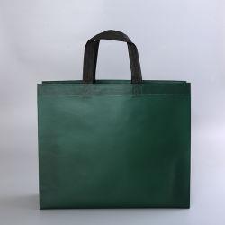 Doble cosido no tejidos textiles tejidas de polipropileno laminado metálico Bolsa de compras