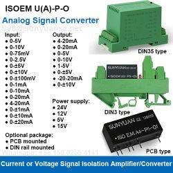 DC Convertidor de señal de voltaje o corriente Amplificador de aislamiento Universal